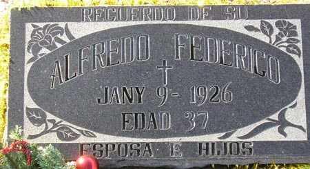 FEDERICO, ALFREDO - Maricopa County, Arizona | ALFREDO FEDERICO - Arizona Gravestone Photos