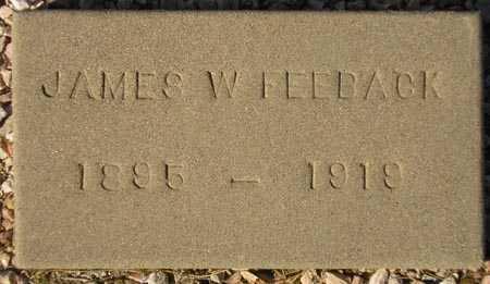 FEEBACK, JAMES W. - Maricopa County, Arizona | JAMES W. FEEBACK - Arizona Gravestone Photos