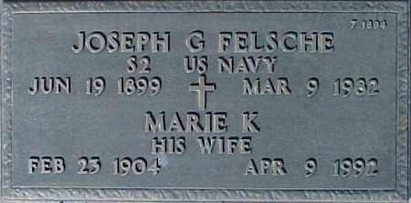 FELSCHE, JOSEPH G - Maricopa County, Arizona | JOSEPH G FELSCHE - Arizona Gravestone Photos