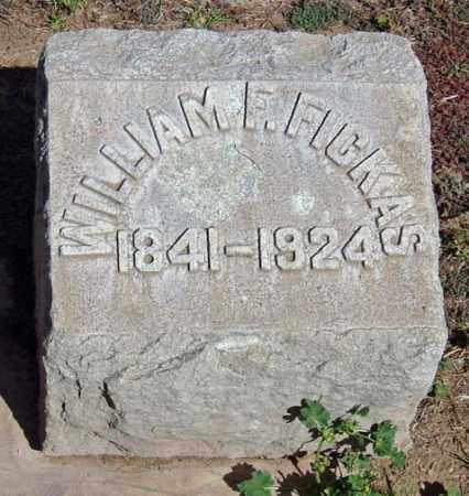 FICKAS, WILLIAM FRANK - Maricopa County, Arizona | WILLIAM FRANK FICKAS - Arizona Gravestone Photos