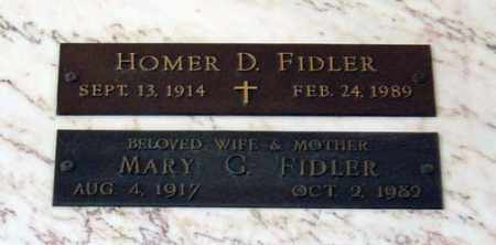 FIDLER, MARY G. - Maricopa County, Arizona | MARY G. FIDLER - Arizona Gravestone Photos