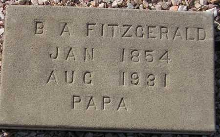FITZGERALD, B. A. - Maricopa County, Arizona   B. A. FITZGERALD - Arizona Gravestone Photos