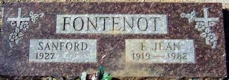 FONTENOT, J. JEAN - Maricopa County, Arizona | J. JEAN FONTENOT - Arizona Gravestone Photos