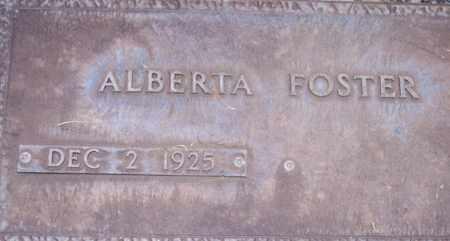 FOSTER, ALBERTA - Maricopa County, Arizona | ALBERTA FOSTER - Arizona Gravestone Photos
