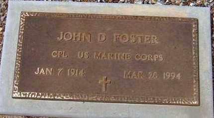 FOSTER, JOHN D. - Maricopa County, Arizona | JOHN D. FOSTER - Arizona Gravestone Photos
