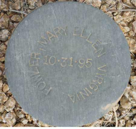 FOWLER, MARY ELLEN VIRGINIA - Maricopa County, Arizona | MARY ELLEN VIRGINIA FOWLER - Arizona Gravestone Photos