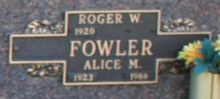 FOWLER, ROGER W - Maricopa County, Arizona | ROGER W FOWLER - Arizona Gravestone Photos