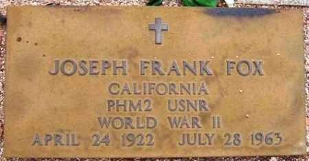FOX, JOSEPH FRANK - Maricopa County, Arizona | JOSEPH FRANK FOX - Arizona Gravestone Photos