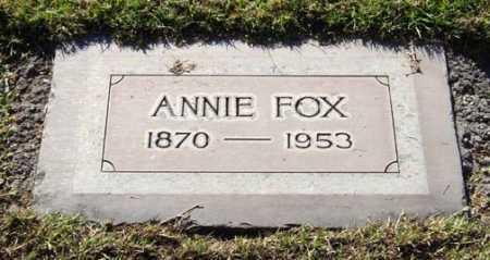 FOX, LYDIA ANNIE - Maricopa County, Arizona | LYDIA ANNIE FOX - Arizona Gravestone Photos