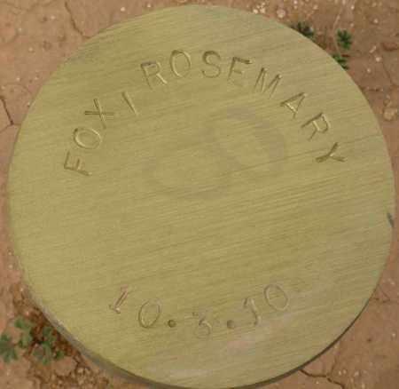 FOX, ROSEMARY - Maricopa County, Arizona | ROSEMARY FOX - Arizona Gravestone Photos