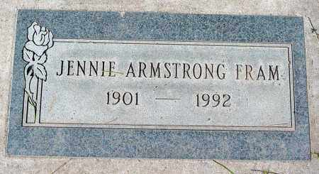 ARMSTRONG FRAM, JENNIE - Maricopa County, Arizona | JENNIE ARMSTRONG FRAM - Arizona Gravestone Photos
