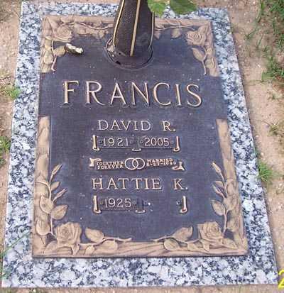 FRANCIS, DAVID R. - Maricopa County, Arizona | DAVID R. FRANCIS - Arizona Gravestone Photos