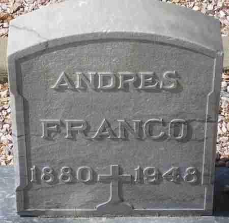 FRANCO, ANDRES - Maricopa County, Arizona | ANDRES FRANCO - Arizona Gravestone Photos