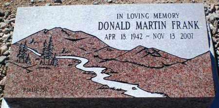 FRANK, DONALD MARTIN - Maricopa County, Arizona | DONALD MARTIN FRANK - Arizona Gravestone Photos
