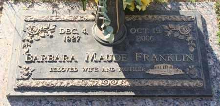 FRANKLIN, BARBARA MAUDE - Maricopa County, Arizona | BARBARA MAUDE FRANKLIN - Arizona Gravestone Photos