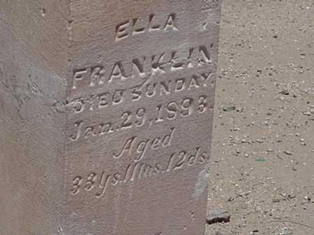FRANKLIN, ELLA - Maricopa County, Arizona | ELLA FRANKLIN - Arizona Gravestone Photos