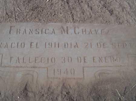 CHAVEZ, FRANSICA M. - Maricopa County, Arizona   FRANSICA M. CHAVEZ - Arizona Gravestone Photos