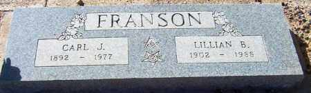 FRANSON, CARL J. - Maricopa County, Arizona | CARL J. FRANSON - Arizona Gravestone Photos