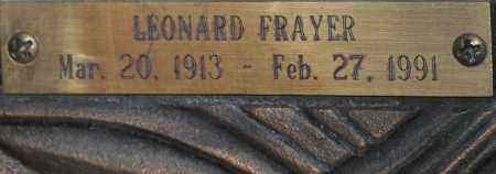 FRAYER, LEONARD THOMAS - Maricopa County, Arizona   LEONARD THOMAS FRAYER - Arizona Gravestone Photos