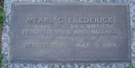 FREDERICK, MEARL G - Maricopa County, Arizona | MEARL G FREDERICK - Arizona Gravestone Photos
