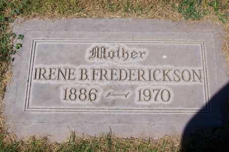 FREDERICKSON, IRENE B. - Maricopa County, Arizona | IRENE B. FREDERICKSON - Arizona Gravestone Photos