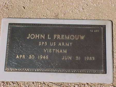 FREMOUW, JOHN L. - Maricopa County, Arizona | JOHN L. FREMOUW - Arizona Gravestone Photos