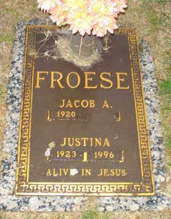 FROESE, JUSTINA - Maricopa County, Arizona | JUSTINA FROESE - Arizona Gravestone Photos