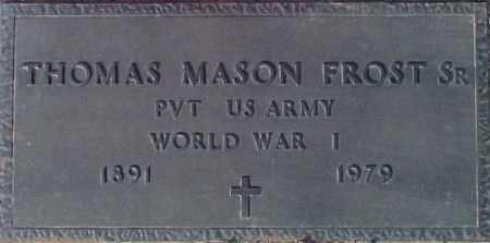 FROST, THOMAS MASON, SR. - Maricopa County, Arizona   THOMAS MASON, SR. FROST - Arizona Gravestone Photos