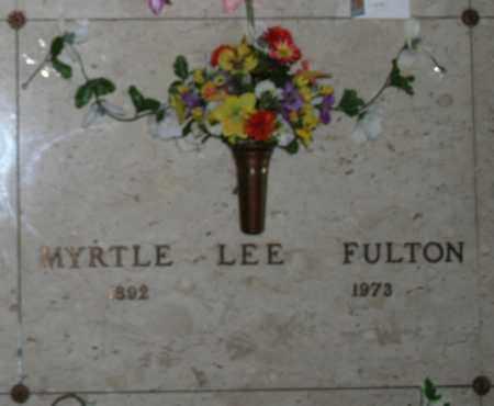 "ETHINGTON FULTON, MYRTIE LEE ""MYRTLE"" - Maricopa County, Arizona | MYRTIE LEE ""MYRTLE"" ETHINGTON FULTON - Arizona Gravestone Photos"