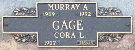 GAGE, CORA L - Maricopa County, Arizona | CORA L GAGE - Arizona Gravestone Photos