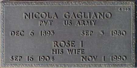 GAGLIANO, NICOLA - Maricopa County, Arizona | NICOLA GAGLIANO - Arizona Gravestone Photos