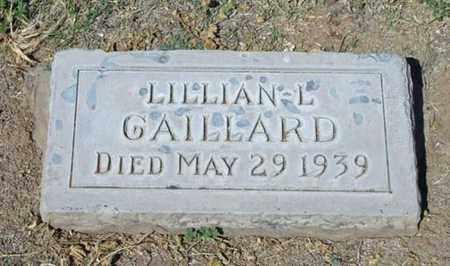 GAILLARD, LILLIAN L. - Maricopa County, Arizona | LILLIAN L. GAILLARD - Arizona Gravestone Photos