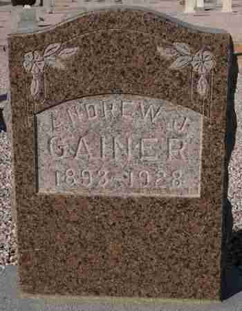 GAINER, ANDREW J. - Maricopa County, Arizona | ANDREW J. GAINER - Arizona Gravestone Photos