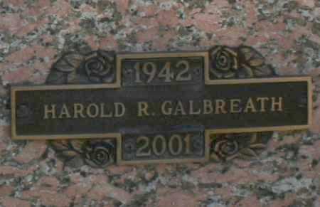GALBREATH, HAROLD R - Maricopa County, Arizona   HAROLD R GALBREATH - Arizona Gravestone Photos