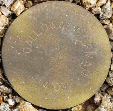 GALLOWAY, NORMAN - Maricopa County, Arizona   NORMAN GALLOWAY - Arizona Gravestone Photos