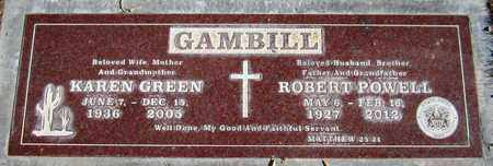 GREEN GAMBILL, KAREN - Maricopa County, Arizona | KAREN GREEN GAMBILL - Arizona Gravestone Photos