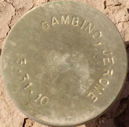 GAMBINO, JEROME - Maricopa County, Arizona | JEROME GAMBINO - Arizona Gravestone Photos