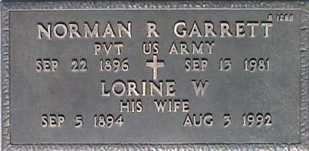 GARRETT, NORMAN R - Maricopa County, Arizona | NORMAN R GARRETT - Arizona Gravestone Photos