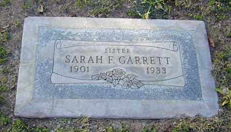WYATT GARRETT, SARAH FRANCES - Maricopa County, Arizona | SARAH FRANCES WYATT GARRETT - Arizona Gravestone Photos