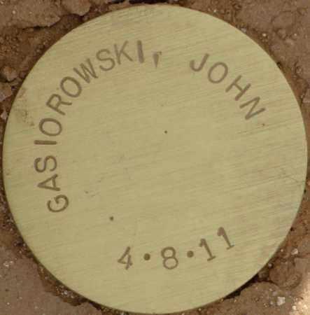 GASIOROWSKI, JOHN - Maricopa County, Arizona | JOHN GASIOROWSKI - Arizona Gravestone Photos