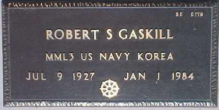 GASKILL, ROBERT S. - Maricopa County, Arizona | ROBERT S. GASKILL - Arizona Gravestone Photos