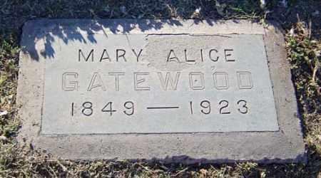 GATEWOOD, MARY ALICE - Maricopa County, Arizona | MARY ALICE GATEWOOD - Arizona Gravestone Photos