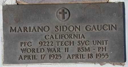GAUCIN, MARIANO SIDON - Maricopa County, Arizona   MARIANO SIDON GAUCIN - Arizona Gravestone Photos