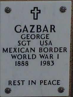 GAZBAR, GEORGE - Maricopa County, Arizona | GEORGE GAZBAR - Arizona Gravestone Photos