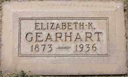 GEARHART, ELIZABETH K - Maricopa County, Arizona | ELIZABETH K GEARHART - Arizona Gravestone Photos