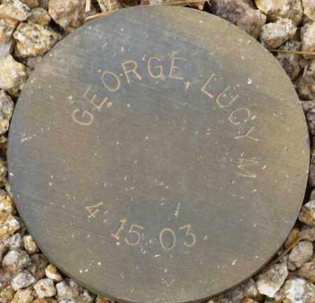 GEORGE, LUCY M. - Maricopa County, Arizona | LUCY M. GEORGE - Arizona Gravestone Photos