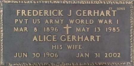 GERHART, ALICE - Maricopa County, Arizona | ALICE GERHART - Arizona Gravestone Photos