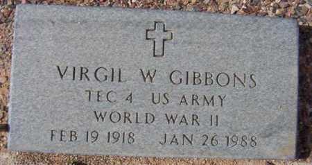 GIBBONS, VIRGIL W. - Maricopa County, Arizona   VIRGIL W. GIBBONS - Arizona Gravestone Photos