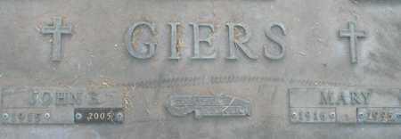 GIERS, JOHN E. - Maricopa County, Arizona   JOHN E. GIERS - Arizona Gravestone Photos