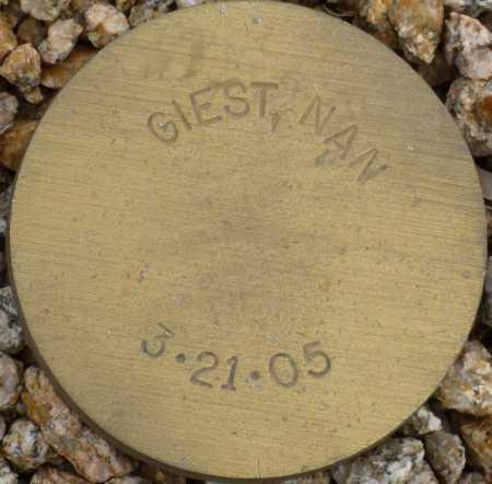 GIEST, NAN - Maricopa County, Arizona | NAN GIEST - Arizona Gravestone Photos